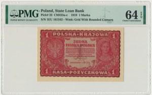 1 marka 1919 - I Serja EU - PMG 64 EPQ