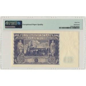 20 złotych 1936 - AI - PMG 65 EPQ