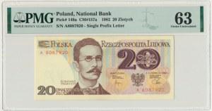 20 złotych 1982 - A - PMG 63