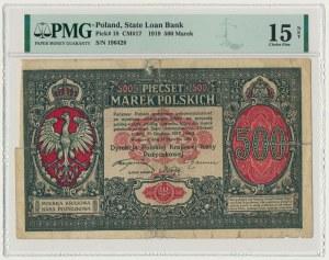 500 marek 1919 Dyrekcja - PMG 15 NET