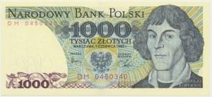 1.000 złotych 1982 - DM -