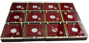 Kolekcja Znaki Zodiaku (12 szt.) - Mennica Polska - 57,83 g Ag 999- certyfikaty