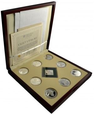 Kolekcja Pielgrzymki Ojca Świętego Jana Pawła II (9 szt.) - z certyfikatami - 248,07 Ag 999