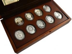 Kolekcja Carskie Jaja Fabergé (9 szt.) w pięknym dedykowanym pudełku z certyfikatami - 139,94 g Ag 999