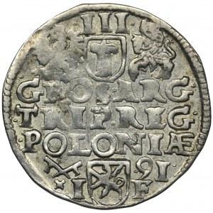Sigismund III Vasa, 3 Groschen Posen 1591 - wide head