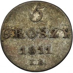 Księstwo Warszawskie, 5 Groszy Warszawa 1811 IB