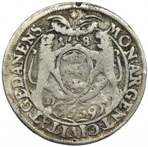 John II Casimir, 1/4 Thaler Danzig 1659 DL