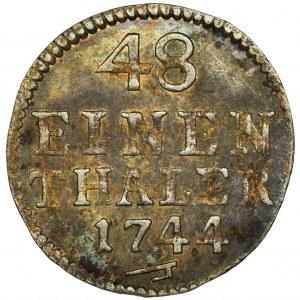 August III Sas, 1/48 Talara (półgrosz) Drezno 1744 FWôF