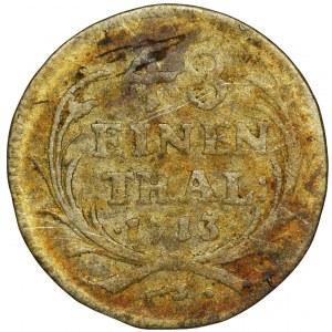 August II Mocny, 1/48 Talara (półgrosz) Drezno 1713 ILH