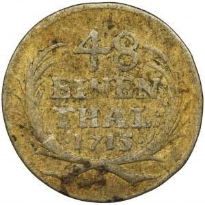 August II Mocny, 1/48 Talara (półgrosz) Drezno 1715 ILH