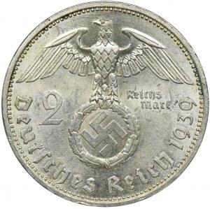 Niemcy, III Rzesza, 2 marki Berlin 1939 A - Hindenburg