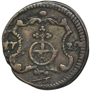 August II Mocny, Halerz Drezno 1729 IGS
