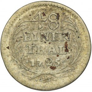 August II Mocny, 1/48 Talara (półgrosz) Drezno 1725 IGS