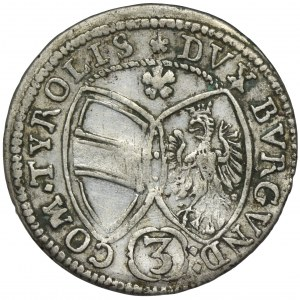 Austria, Ferdynand Karol, 3 Krajcary Hall 1645