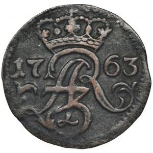 August III Sas, Szeląg Elbląg 1763