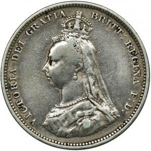 Wielka Brytania, Wiktoria, Szyling Londyn 1887