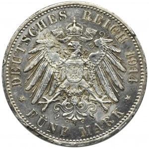Germany, Prussia, William II, 5 mark Berlin 1914 A