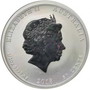 Australia, Elżbieta II, 50 Centów Perth 2018 P - Rok psa