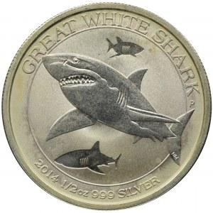 Australia, Elżbieta II, 50 Centów Perth 2014 P - Rekin biały