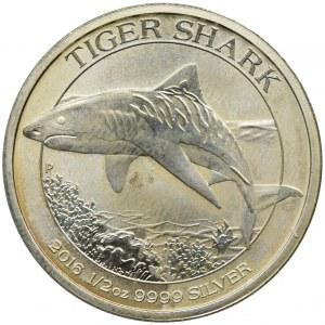 Australia, Elżbieta II, 50 Centów Perth 2016 P - Rekin tygrysi
