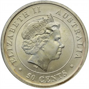 Australia, Elżbieta II, 50 Centów Perth 2015 P - Rekin młot