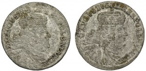Zestaw, August III Sas, Trojaki (2 szt.)