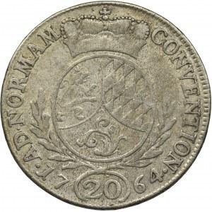 Niemcy, Pfalz-Sulzbach, Karol Teodor, 20 Krajcarów 1764 - RZADKIE