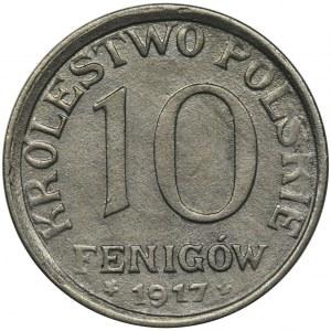 Królestwo Polskie, 10 fenigów 1917 - napis BLISKO