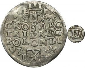 Zygmunt III Waza, Trojak Poznań 1593 - podwójne E