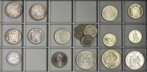 Zestaw, Mix srebrnych monet (17 szt.)