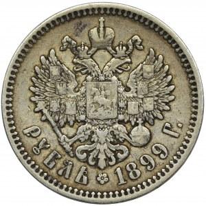 Rosja, Mikołaj II, Rubel Petersburg 1899 Ф•З