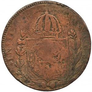Brazylia, Pedro I, 80 Reis - kontramarka