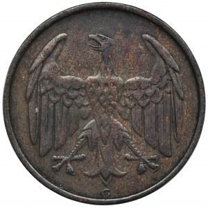 Niemcy, Republika Weimarska, 4 Fenigi Karlsruhe 1932 G