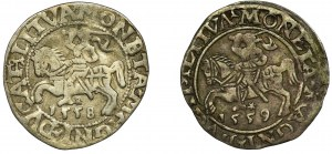 Zestaw, Zygmunt II August, Półgrosze (2 szt.)