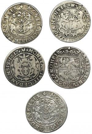 Zestaw, Zygmunt III Waza, Orty (5 szt.)