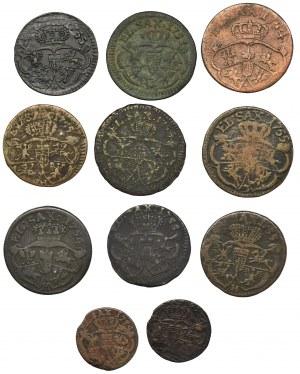 Zestaw, August III Sas, Grosze i Szelągi (11 szt.)