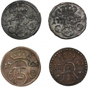 Zestaw, August III Sas, Szelągi (4 szt.)