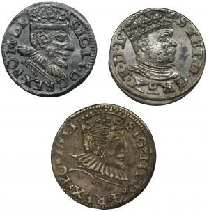 Zestaw, Zygmunt III Waza, Trojaki (3 szt.)