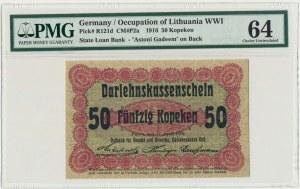 Posen, 50 kopeckss 1916 - short clause (P2c) - PMG 64
