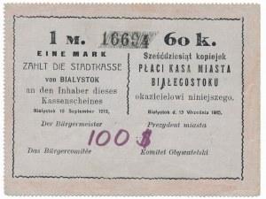 Białystok , 1 marka = 60 kopiejek 1915