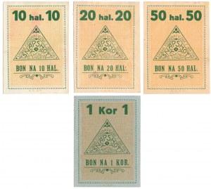Lwów, Spółka Fotograficzna Snapshot, zestaw 10-50 halerzy oraz 1 korona 1919 (4szt.)