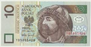 10 złotych 1994 - YB - seria zastępcza