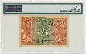 2 marki 1916 Generał - B - PMG 63