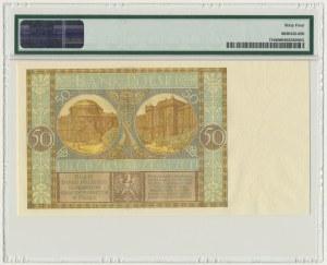 50 złotych 1929 - Ser.ED. - PMG 64