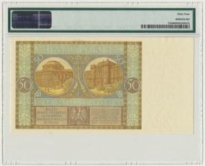 50 złotych 1929 - Ser.EM. - PMG 64