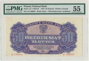50 złotych 1944 ...owym - AC - PMG 55