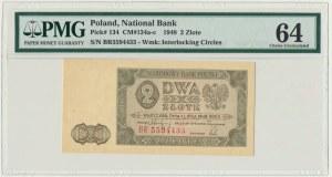 2 złote 1948 - BR - PMG 64