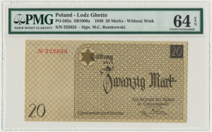20 mark 1940 no.1 without watermark - PMG 64 EPQ
