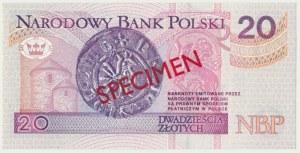20 złotych 1994 WZÓR - AA 0000000 - Nr 1502 -