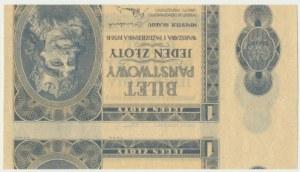 1 złoty 1938 - ciekawy destrukt